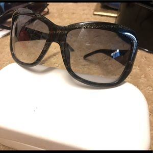 Marc Jacobs Black Gold Glitter Sunglasses MJ119